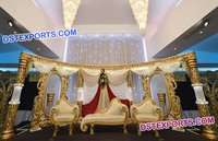 Asian Muslim Wedding Stage Decorations