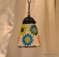 Ball mosaic glass chandelier lantern hanging lamp light