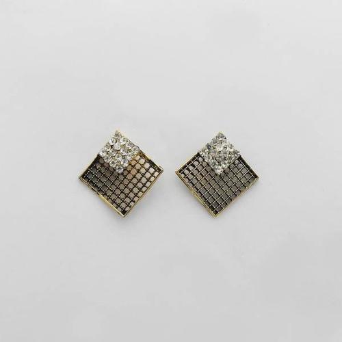 Shades American Diamond Alloy Stud Earring