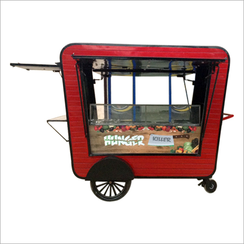 Mobile Hand Push Food Cart