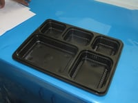 DISPOSABLE MEAL TRAY (BLACK)