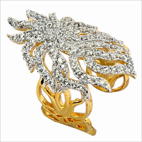 Ladies Leaf Design Ring