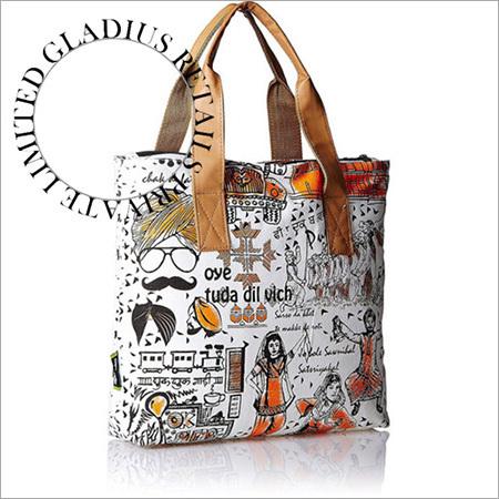 Canvas Print Fashion Bag