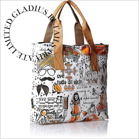 Canvas Print Fashion Bag