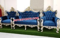 Muslim Wedding Silver  Sofa Set