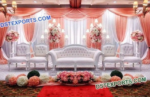Asian Wedding White Sofa Set