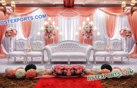Asian Wedding White Sofa Set