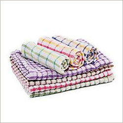 Checked Hand Bath Towels