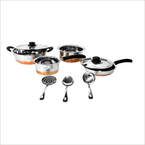 Cookware Set Copper Bottom