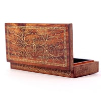 Hand carved storage box