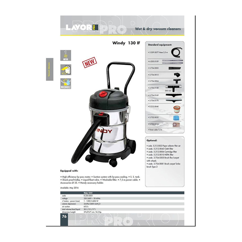 VC502R 30L SS Wet & Dry Vacuum Cleaner