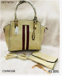 PU Imported Multicolour Handbag