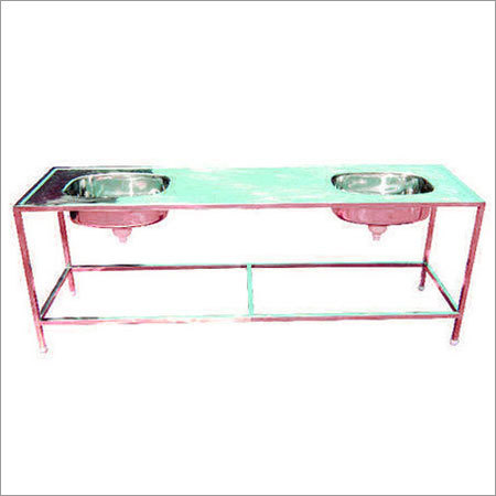 SS Double Sink with Platform