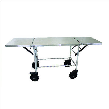 SS Folding Stretcher Trolley