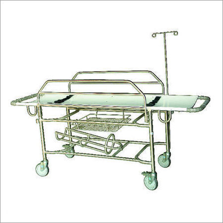 SS Stretcher Trolley