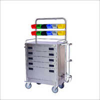 SS Emergency Crash Cart Trolley