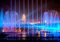 Musical Fountain Lighting With Laser Show