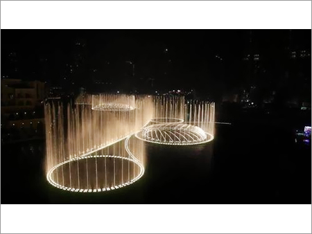 Water Show With Fountain Lighting