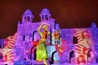 Light And Sound Show With 3D Projection Mapping