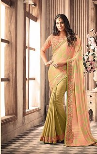 Latest Party wear Embroidery saree