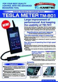 Gauss Meter Tesla Meter,Model TM 801