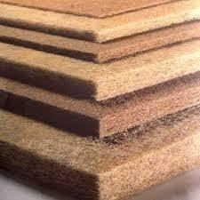 Thermal bonded coir felt