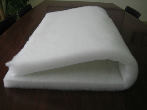 Thermal bonded polyester filter fabric