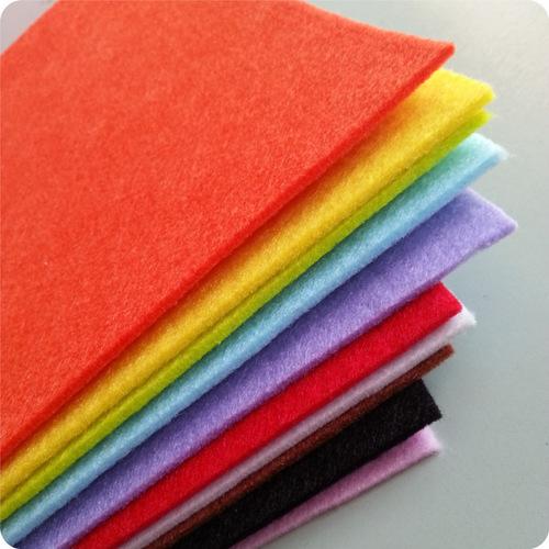Thermal bonded polyester multi colour felt