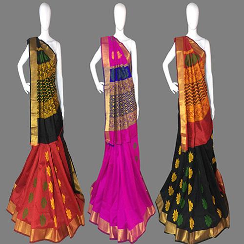 Red Handloom Silk Saree