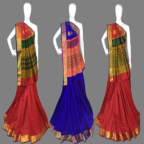 Blue Handloom Silk Saree