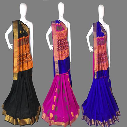 Black Handloom Silk Saree