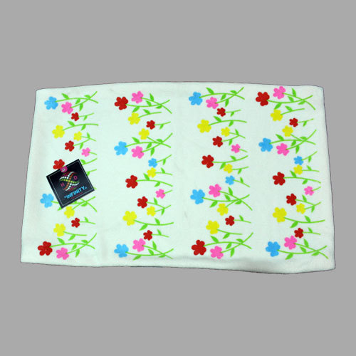 Children Floral Print Bath Towel