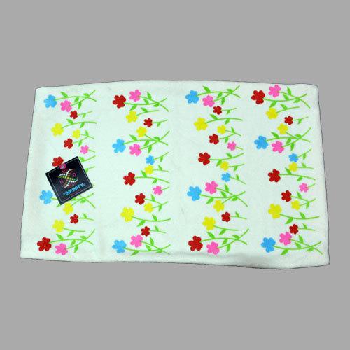 Children Floral Print Bath Towel