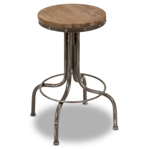 Industrial Bar Stool With Footrest