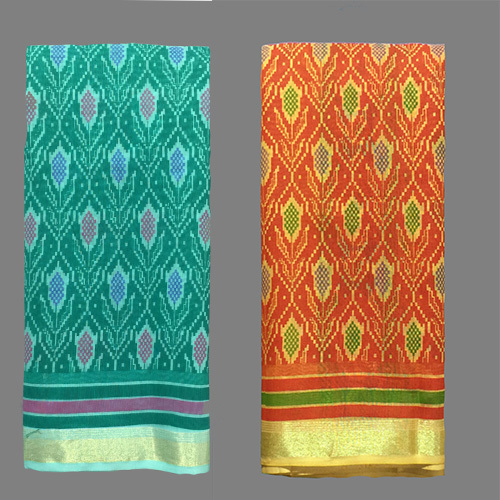 Green Cotton Designer Saree