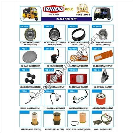 Bajaj Compact Three Wheeler Spare Parts