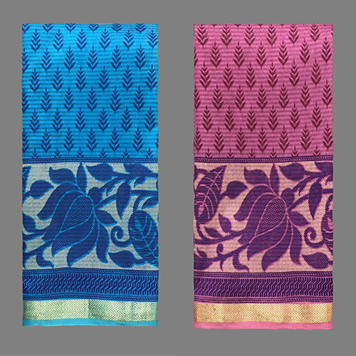 Fancy Cotton Designer Saree