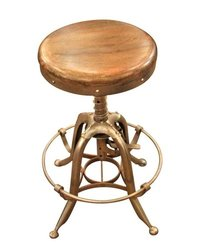 Copper finish Industrial Bar Stool