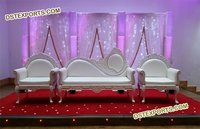 Indian Wedding White Sofa Set