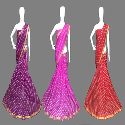 Gilded Leheriya Designer Saree