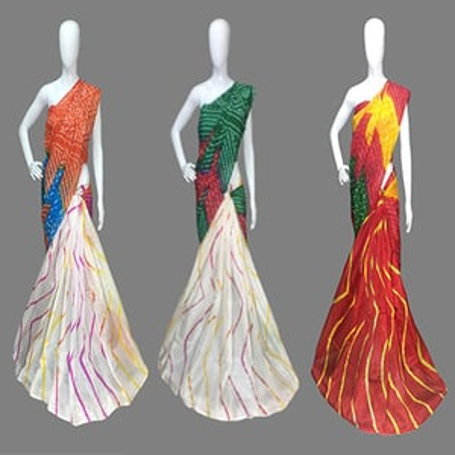 Rajasthani Designer Leheriya saree