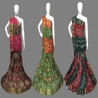 Jacquard Silk Bandhani Saree