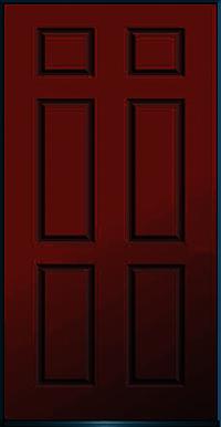 FIBRE DOOR 6 PANEL