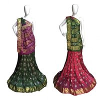 Fancy Jacquard Silk Bandhej Saree
