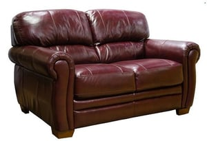 Rolled Arms Leather Sofa