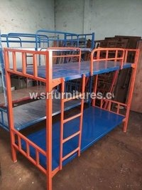 Orange and Blue Bunker Cot Bed