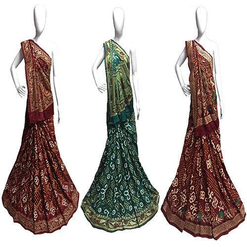 Gajji Silk Resham Embroidery Saree