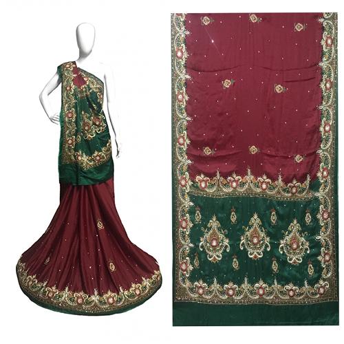 Heavy Rich Work Fancy Gujji Silk Saree