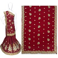 Jacquard Silk wedding wear Heavy Work Saree
