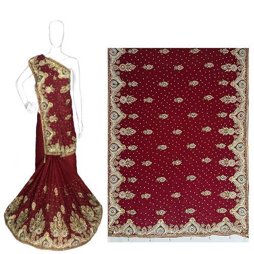Jacquard Silk wedding wear Heavy Work Saree